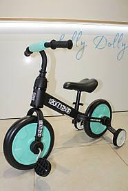 Велосипед-беговел 2в1 PROFI KIDS М 5452, Бірюза