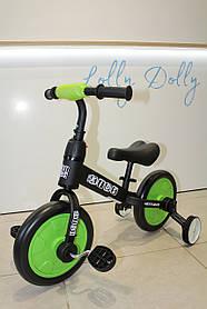 Велосипед-беговел 2в1 PROFI KIDS 5452 М, Зелений