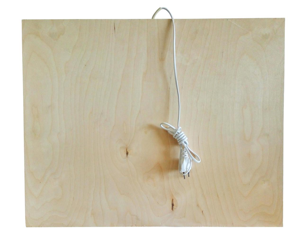 Инфракрасный деревянный обогреватель-подставка QSB 100 Вт Бежевый (46-891711834)