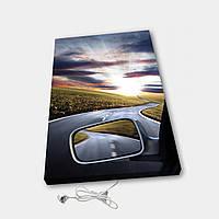 Обігрівач настінний електричний інфрачервоний картина іонізація АртТепло З машини (Hot00010), фото 1