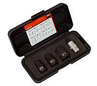 "1/2"" Pentagon socket and bit set for hand brake, Bahco, BBR202P455"