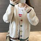 Красива стильна жіноча в'язана кофта кардиган 42-46, фото 3