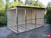 Металлический вольер для щенков