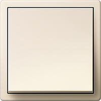 Выключатель одноклавишный Gira F100 Кремовый/Кремовый