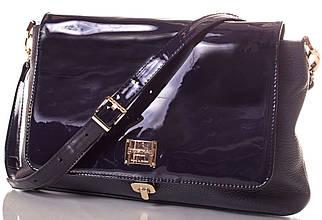 Блестящая женская кожаная сумка EUROPE MOB, em002, синяя
