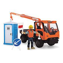 Автокран игрушка, с аксессуарами и звук эффектом, 21,5 см, DICKIE TOYS