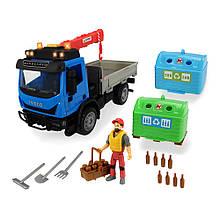 Автокран игрушка с аксессуарами, свет, звук, 25 см, DICKIE TOYS