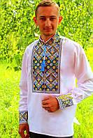 Мужская вышиванка с узором Тризуб