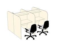 Столы для колл-центра с радиусным углом