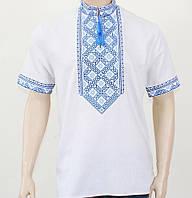 Мужская рубашка вышиванка с коротким рукавом , размер 44-56