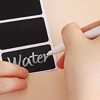 Наклейка на банку, стикеры для специй. Набор Меловой цветной маркер + 36 шт 3*5 см прямоугольная