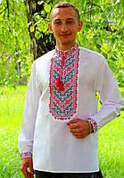 Красивая мужская рубашка вышиванка , размер 44-56