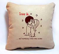 """Подушка з серії """"Love is..."""", фото 1"""