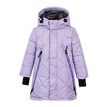 "Куртка парка зимняя для девочки ""Джил""  Be Easy,  Размер 140 Цвет - Лиловый"