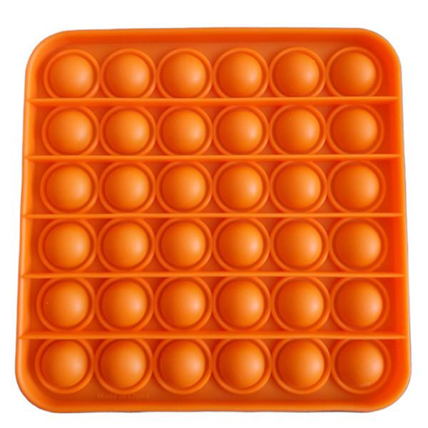 Pop It Антистресс Игрушка - (Поп Ит - Попит - Popit) - Оранжевый квадрат