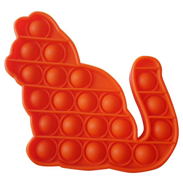 Pop It Антистресс Игрушка - (Поп Ит - Попит - Popit) - Оранжевый Котик