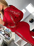 Женский турецкий костюм из трикотажа и экокожи, Размер:50-52;52-54;54-56;56-58, 2 цвета., фото 3