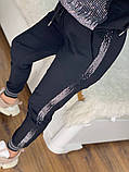 Женский турецкий костюм из трикотажа и экокожи, Размер:50-52;52-54;54-56;56-58, 2 цвета., фото 4