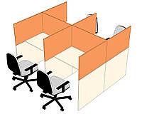Стол для колл-центров с шумопоглощающими перегородками