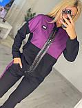 Жіночий спортивний костюм, прикрашений аплікаціями з каменів (Туреччина); Розмір:50-52;52-54;54-56;56-58, 3 кольори., фото 4