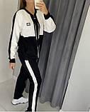 Жіночий спортивний костюм, прикрашений аплікаціями з каменів (Туреччина); Розмір:50-52;52-54;54-56;56-58, 3 кольори., фото 6