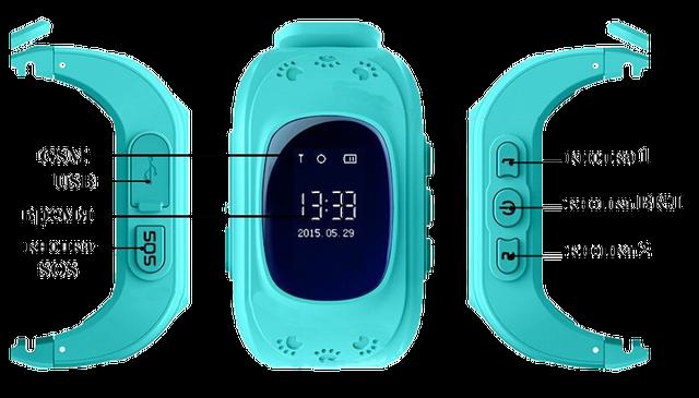 Детские часы с телефоном и GPS треккером.