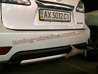 Накладка на бампер задняя Lexus RX 2009-12