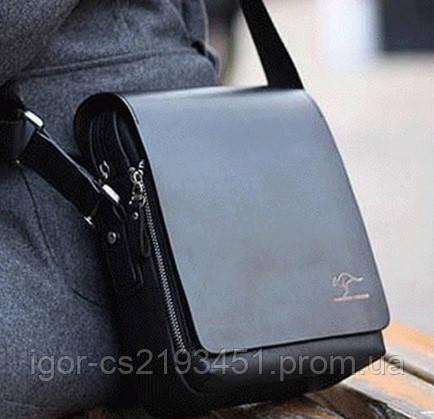 Мужская сумка, барсетка, Кенгуру Черный.