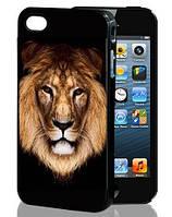 3D чехол на Iphone 4/4s Лев