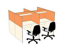 Столы с перегородками для call-центров