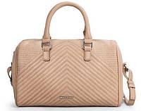 Стильная женская сумка Mango Touch. Бежевая