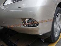 Хром на противотуманные фары (галогенок) на Lexus RX 2009-12