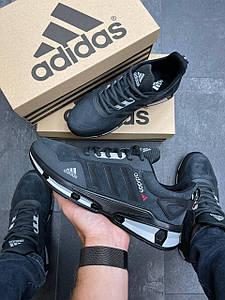 Чоловічі демісезонні кросівки Adidas Feather Dark Blue Suede