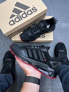 Чоловічі кросівки Adidas Feather Suede Black/Red