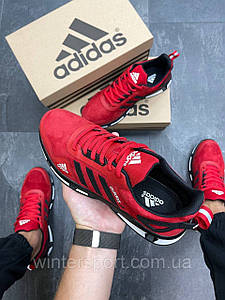 Чоловічі кросівки Adidas Feather Suede червоні