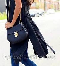 Женская сумка в стиле CHLOE. Черная