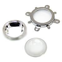 Линза светодиодной матрицы LED Lens 20-100W 60-80° 44mm 20w 30w 50w 70w 80w 100w, фото 1