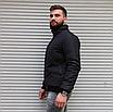 Мужская утепленная куртка бомбер чёрная, фото 4