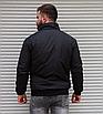 Мужская утепленная куртка бомбер чёрная, фото 5