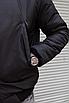 Мужская утепленная куртка бомбер чёрная, фото 6