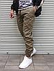Мужские штаны джоггеры цвета хаки , хлопок, фото 3