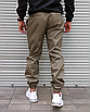 Мужские штаны джоггеры цвета хаки , хлопок, фото 4