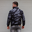 Чоловіча куртка утеплена бомбер камуфляж, фото 6