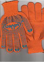 Перчатки с ПВХ точкой seven