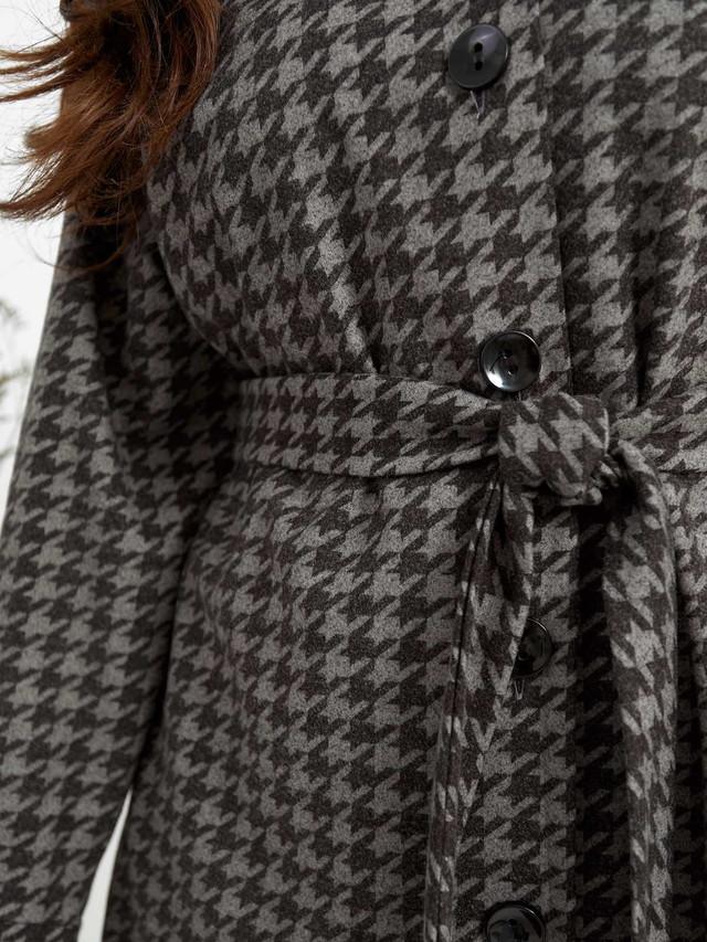 Кашемировое демисезонное пальто-кардиган