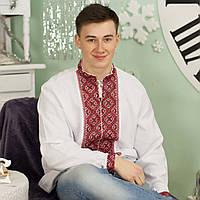 Вышиванка мужская - домоткана тканина, фото 1