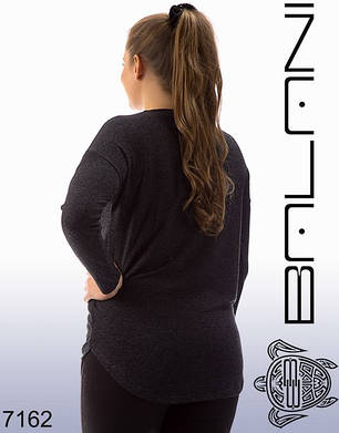 Туника женская однотонная  больших размеров, фото 2