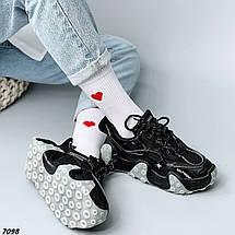 Кроссовки женские черные кожаные, фото 3
