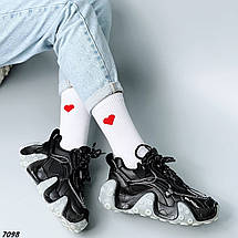 Кроссовки женские черные кожаные, фото 2