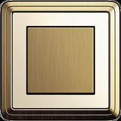 Выключатель одноклавишный Gira ClassiX Бронза/Кремовый